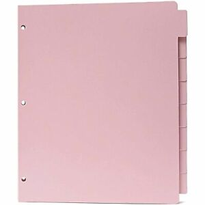 Letter Size Binder Dividers With Tabs 3 Hole Punched Pink 12 Sets 9 5 X 11
