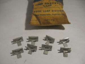 1957 Buick Taillight Lamp Lens Retainer Clips Gm Guide 5937379 Nos