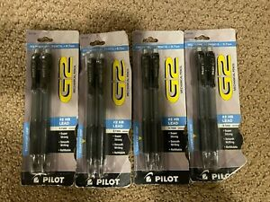 New 4 Packs Of Pilot G 2 Mechanical Pencil 0 7mm Clear W black Accents 8 Total