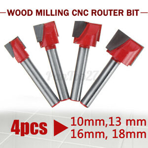 4pcs Surface Planing Bottom Cleaning Wood Milling Cnc Cutting Mill Router Bi
