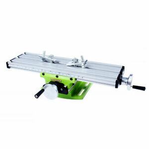Milling Machine Compound Work Table Cross Slide Bench Drill Press Vise Alu alloy