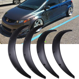 For Honda Civic 4x 4 5 Wheel Arches Fender Flares Extra Wide Body Kit Black