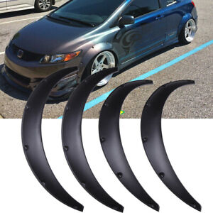 For Honda Civic 4x 45 Wheel Arches Fender Flares Extra Wide Body Kit Black Fits 2010 Toyota Corolla