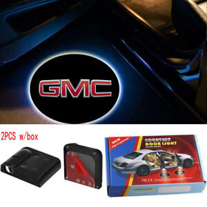 3d Gmc Logo Car Door Welcome Laser Projector Wireless Led Shadow Light For Gmc