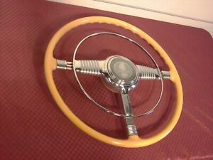 46 47 48 Pontiac Accessory Deluxe Safti Flex Steering Wheel W Nos Horn Ring