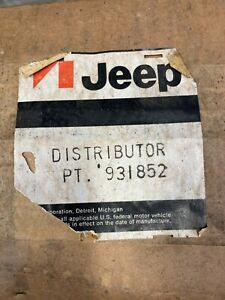 1962 1963 1964 62 63 64 Jeep Willys Nos Distributor Truck Station Wagon