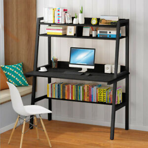 Computer Desk Pc Laptop Writing Table Study Workstation Home Office W Shelf