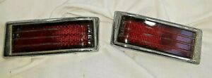 1941 1948 Nash Tail Lights Nama Set Of 2 With Stimsonite Glass Lenses Nra521
