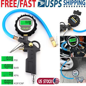 300psi Air Tire Inflator With High Accurate Digital Pressure Gauge Tyre Car Test