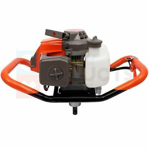 Post Hole Digger 63cc 3 4 Hp max Gas Powered Earth Auger Borer For Fence Ground