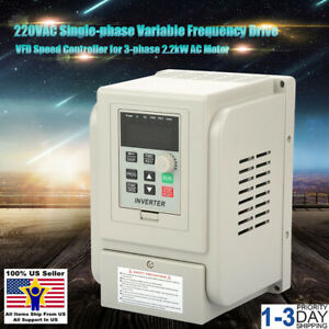 3hp 2 2kw Variable Frequency Drive Inverter Single To 3 Phase Cnc Vfd Vsd 400hz