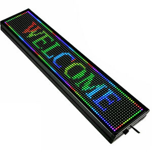 Led Sign Display Board Advertising Sign Scrolling Message Programmable 40 x8