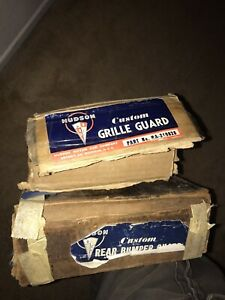 Nos 1948 1949 Hudson Custom Accessory Bumper Guards Front And Rear