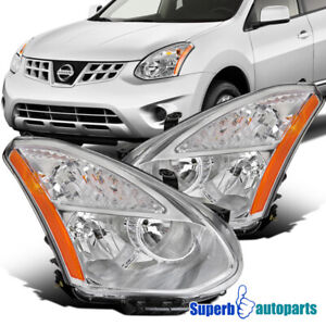 For 2008 2013 Nissan Rogue 2014 2015 Select Halogen Headlights Pair Replacement
