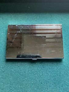Vintage Silver Plated Business Card Case