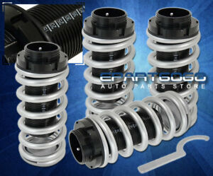 For 94 01 Integra Dc2 Ls Rs Scale Adjustable Coilover Sleeves Kit Set Silver