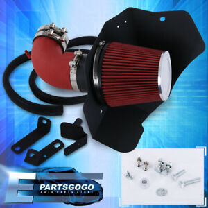 For 09 15 Cadillac Cts V 6 2l Red Piping Cold Air Intake Induction Piping Filter