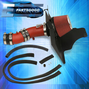 For 2011 2014 Ford Mustang V6 Base 3 7l 3 7 Red Performance Cold Air Intake Kit