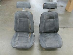 1969 Camaro Front Bucket Seats With Headrest nice Cores To Reupholster