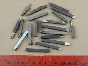 Nice Lot Of 20 Pieces 1 4 Metal Cutting Tool Bits 4 Atlas Craftsman Lathe