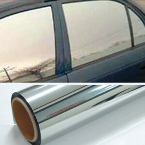 Chrome 20 Light Mirror Window Tint Film One Roll 10 Ft X 24 In Wide Lets In New