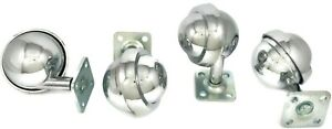 2 1 2 In Ball Caster Wheels With Square Mounting Plate Set Of 4 Item 256 pc