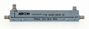 Macom 2026 6010 10 500 Mhz To 18 Ghz 10 Db Directional Coupler Accoppiatore Dire