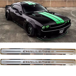 Car Stainless Steel Door Sill Scuff Plate For Dodge Challenger 2012 2020 2pcs