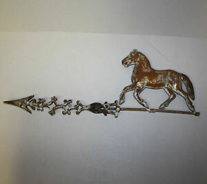 Antique Weathervane Small Prancing Horse On Cole Brothers Arrow