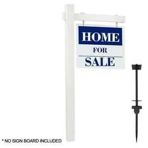 Pvc Real Estate Sign Post 6ft Tall 4 x 4 x 72 Realtor Home Office Sign
