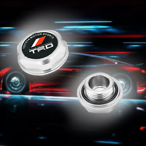 Trd Engine Oil Filler Cap Billet Silver For Toyota Camry Corolla Sienna