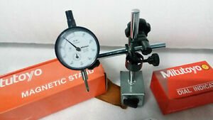 Japan Made Mitutoyo Magnetic Base 7011 S 10 With Mitutoyo Dial Indicator 2046s