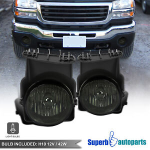 For 2003 2006 Gmc Sierra 1500 2500hd 2007 Classic 3500 Pickup Smoke Fog Lights