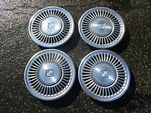 Genuine 1985 To 1987 Buick Regal 14 Inch Hubcaps Wheel Covers Set