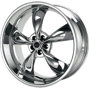 4 17x7 5 Chrome Wheel American Racing Torq Thrust M 5x100 45