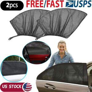 2pack Universal Car Side Window Sunshade Auto Breathable Screen Cover Sunshade