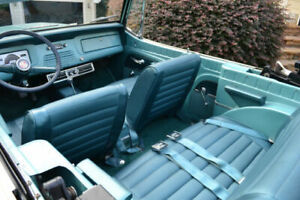 Jeepster Commando Turquoise Seat Set Basket Weave Jeepster Convertible Special