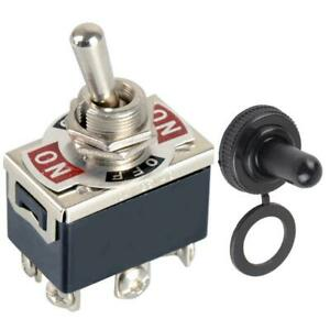 2pcs 6 pin 3 Position On off on Toggle Switch Reverse Polarity Motor cap 250v