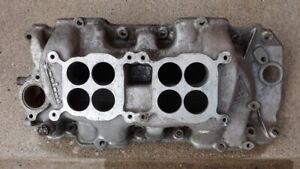 Weiand Wcp2q Dual Quad 2x4 Intake Manifold Big Block Chevy Rectangle Port 7506