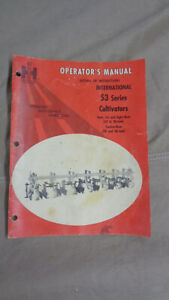 1968 International 53 Series Cultivator Operator Manual Ih 4 6 8 12 Row