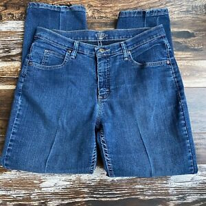 Riders by Lee 12P Jeans Petite Tapered Leg Mid Rise Stretch Dark Wash Denim $22.99