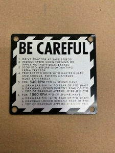 Be Careful Plate For John Deere Tractors From 1961 1972