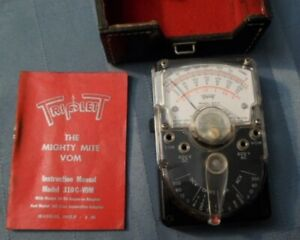 Triplett Mighty Mite Model 310 C With Leather Case And Manual No Leads
