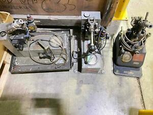Deustch Pneumatic Air Over Hydraulic Pump Set Runs Swage Tooling 3pc Lot