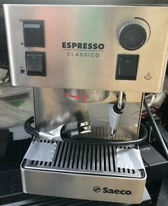 Saeco Aroma SIN 015 Stainless Steel Espresso Machine Made in Italy Works $200.00