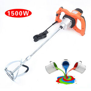 1500w Electric Single Rod Mixer 6 Speed Paint Putty Powder Plaster Stirring Tool