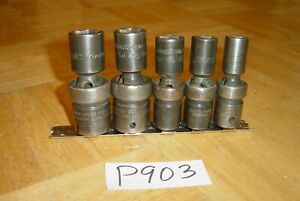 Snap on Tools 5 Piece 1 2 Drive Sae Swivel Impact Sockets 6 Point