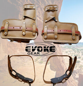 Tree Climbing Spike Spur Pair Leather Pads And Straps belts Replacement New
