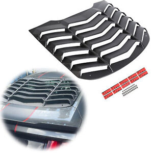 Fits 15 20 Ford Mustang Rear Window Louver Cover Sun Shade Abs