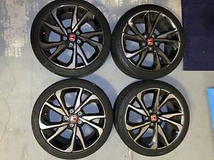 2016 17 18 19 20 Honda Civic Si Hatchback Sport Alloy Rims 18x8 Machined Black